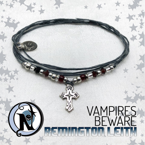 Vampires Beware Sterling Silver Bracelet By Remington Leith