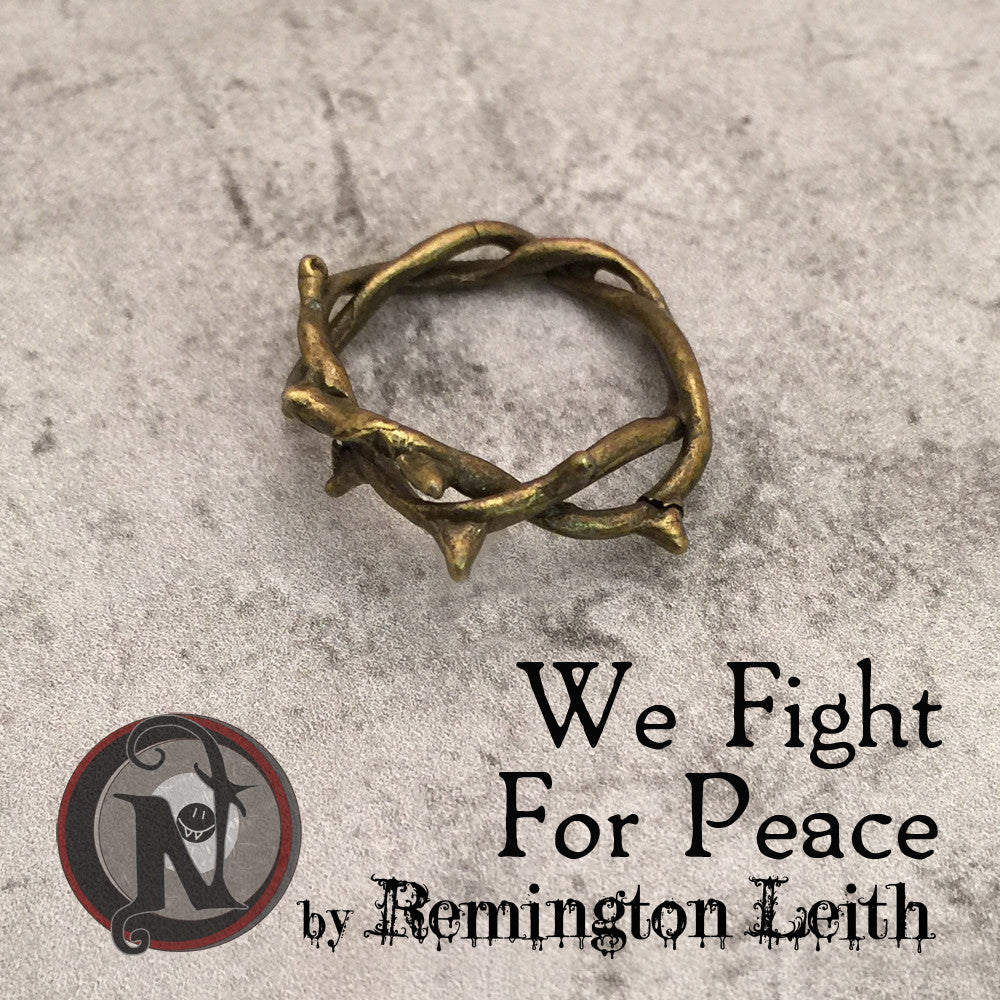 We Fight For Peace NTIO Ring by Remington Leith