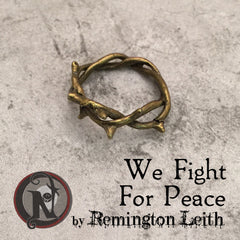 We Fight For Peace NTIO Pinky Ring by Remington Leith