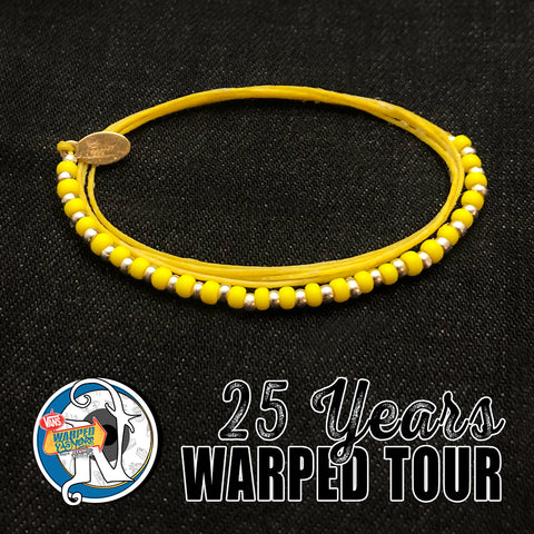 Yellow 25 Years NTIO Bracelet by Vans Warped Tour