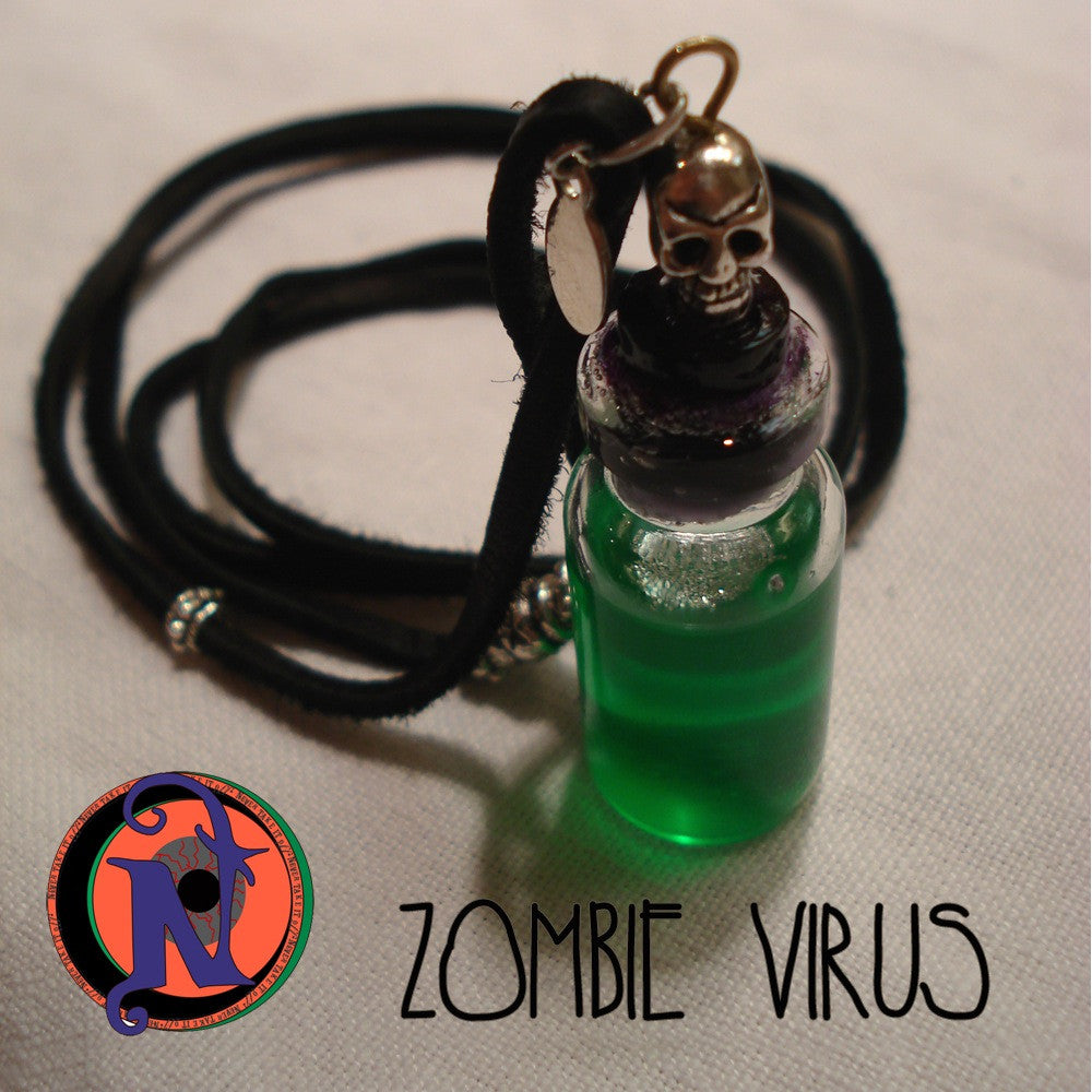 Zombie Virus Ntio Vial Necklace Never Take It Off