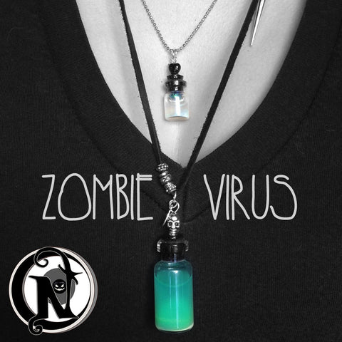 Zombie Virus NTIO Vial Necklace