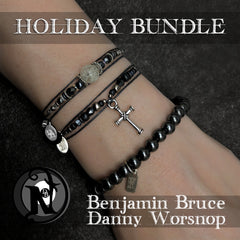 Silver 3 Piece Holiday NTIO Bracelet Bundle by Ben Bruce