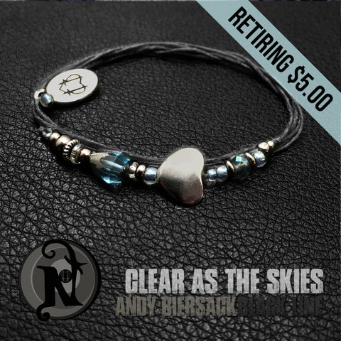 Clear as the Skies  NTIO Bracelet by Andy Biersack ~ RETIRING