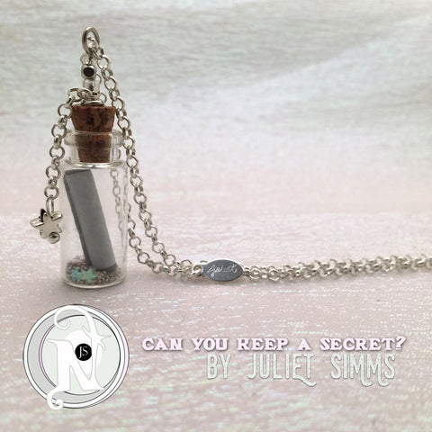 Can You Keep A Secret Vial Necklace by Juliet Simms