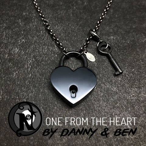 Gunmetal One From the Heart NTIO Necklace Danny Worsnop & Ben Bruce