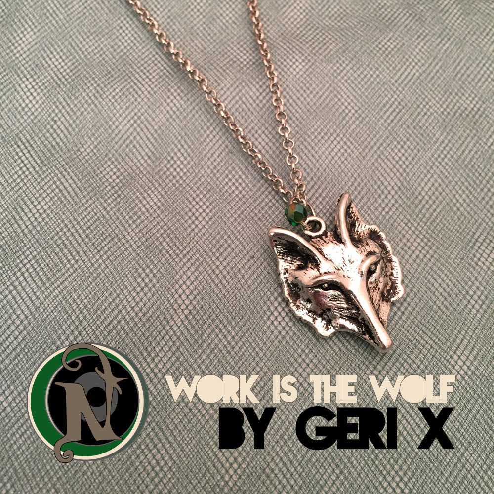 Work Is Wolf Necklace by Geri X