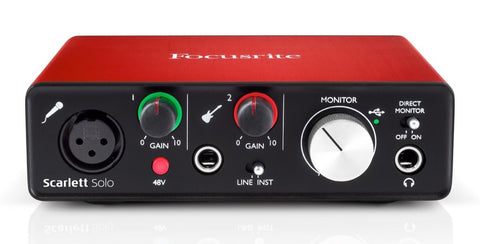 Focusrite Scarlett Solo 2nd Generation usb audio interface - Synthbox - 1