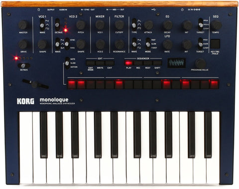 Korg monologue Analog Synthesizer - Blue - Synthbox