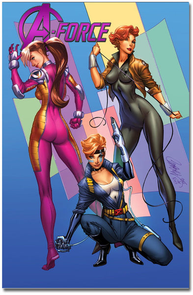 A-Force #1 Marvel 92 J. Scott Campbell Signed Variant Cover