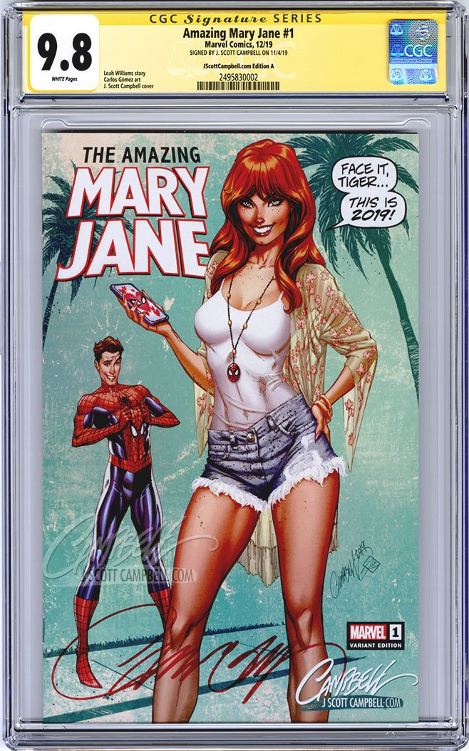 CGC 9.8 SS Amazing Mary Jane #1 cover A JSC