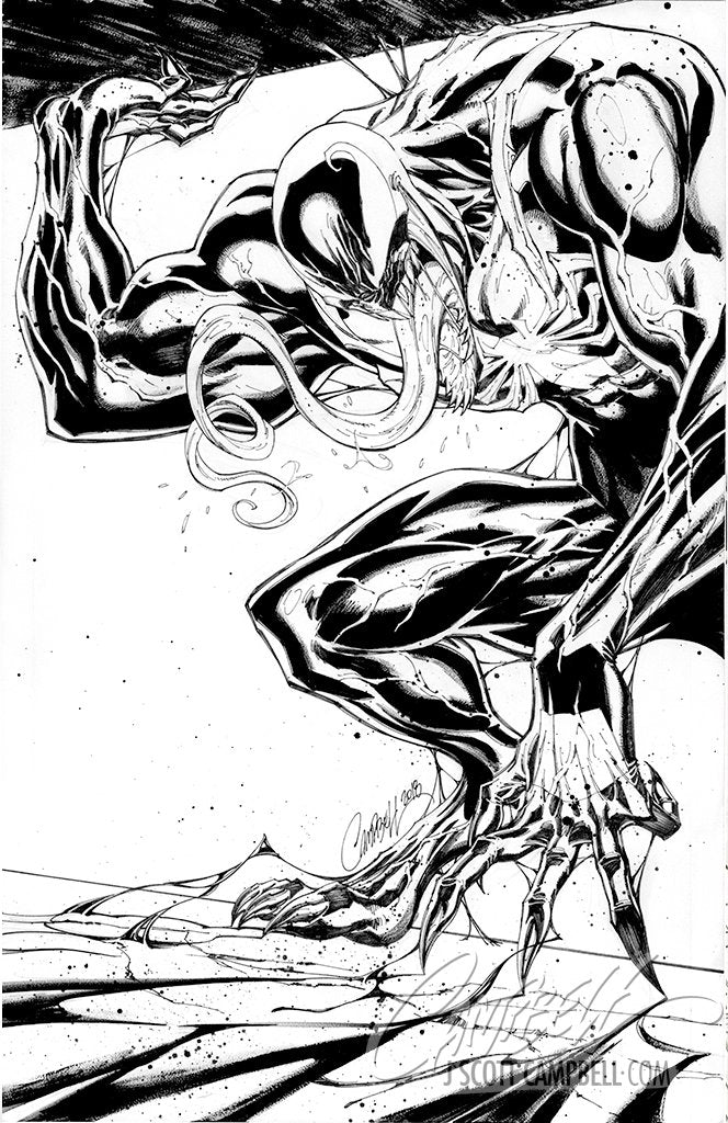 Original Art: ASM #800 JSC EXCLUSIVE Cover D 'Venom' - SOLD