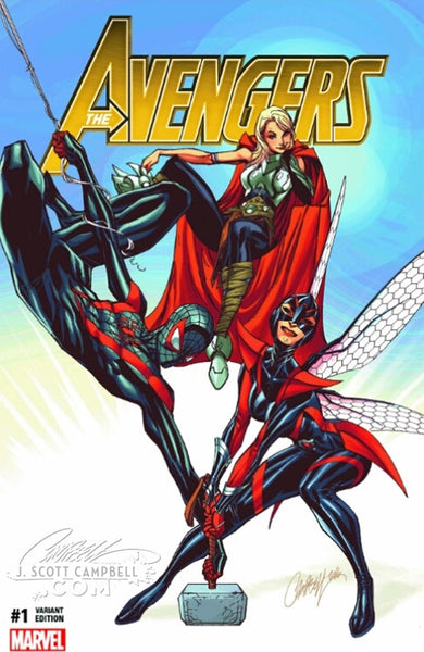 Avengers #1 ComicXposure EXCLUSIVE: J. Scott Campbell Variant - SIGNED