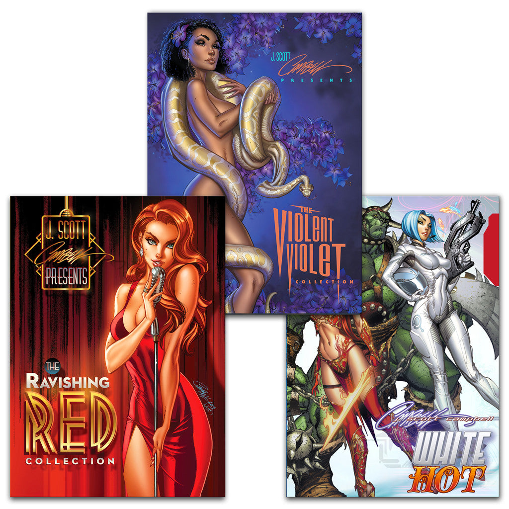 JSC Hardcover Collection Set of 3: White, Red, Violet
