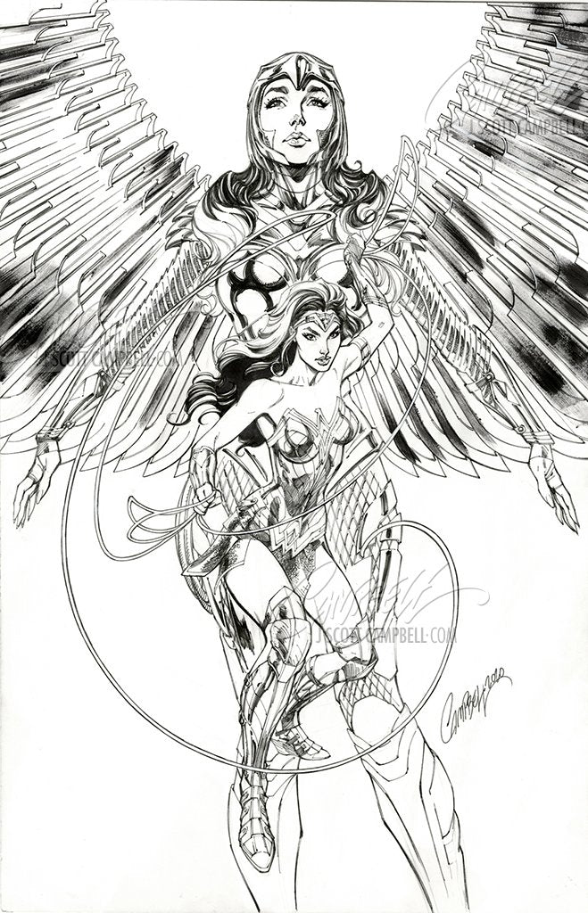 Original Art: Batman #104 'Wonder Woman 1984' JSC