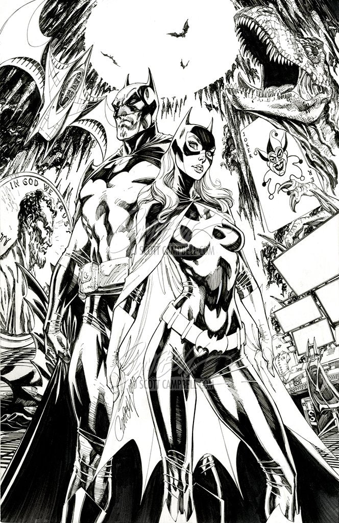 Original Art: Detective Comics #1027 Batman / Batgirl (SOLD)
