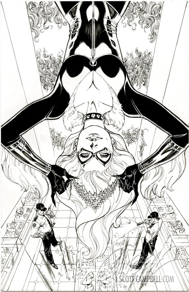 Original Art: Black Cat #2 Retail Cover