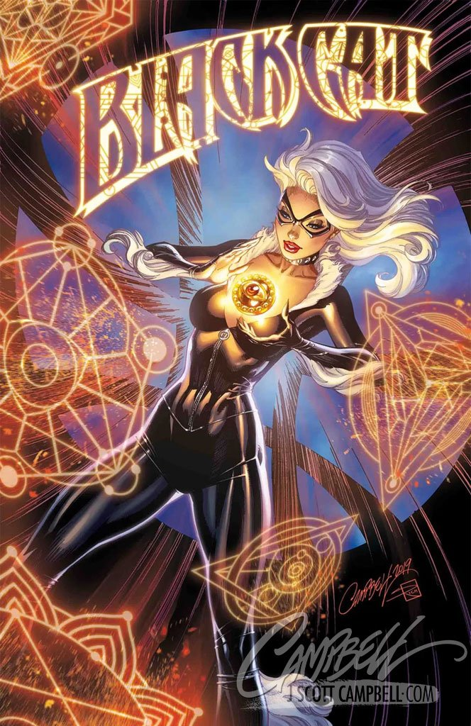 Original Art: Black Cat #3 Retail Cover - SOLD