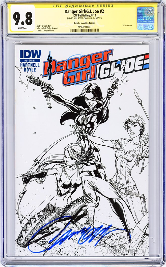 CGC 9.8 SS Danger Girl/G.I. Joe #2 RIA JSC INCENTIVE