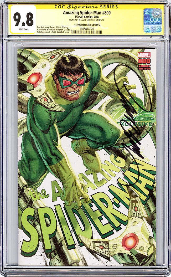 CGC 9.8 SS Amazing-Spider Man #800 'trade dress' cover G J. Scott Campbell
