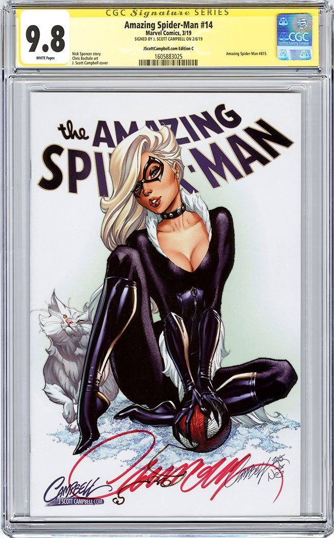 CGC 9.8 SS Amazing Spider-Man #14 cover C J. Scott Campbell