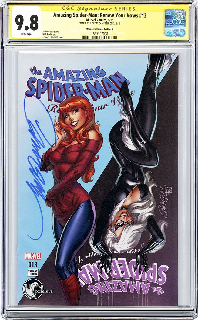 CGC 9.8 SS Amazing Spider-Man: Renew Your Vows #13 cover A J. Scott Campbell