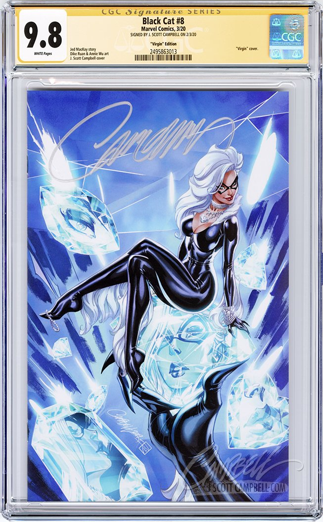 CGC 9.8 SS Black Cat #8 JSC Virgin EXCLUSIVE