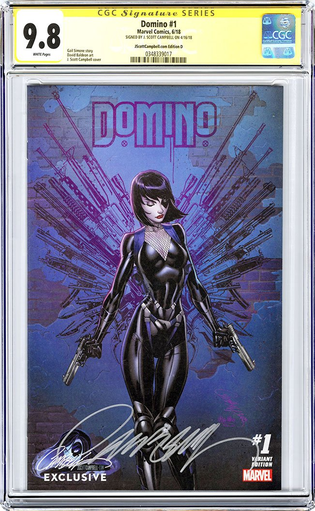 CGC 9.8 SS Domino #1 cover D J. Scott Campbell