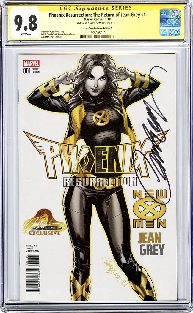 CGC 9.8 SS Phoenix Resurrection: The Return of Jean Grey #1 cover G J. Scott Campbell