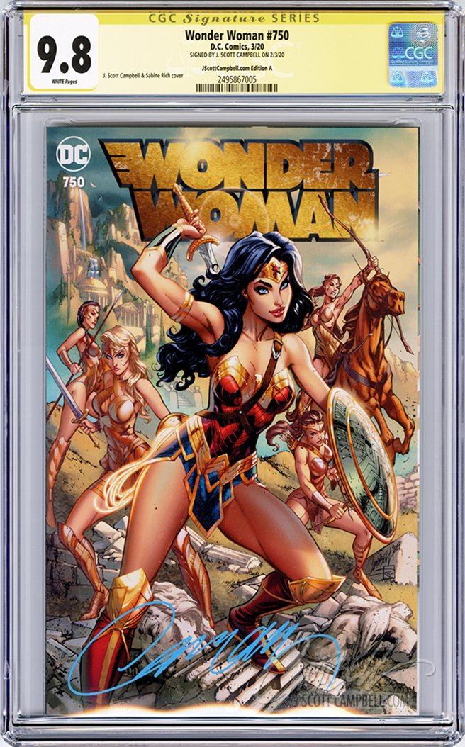 CGC 9.8 SS Wonder Woman #750 cover A JSC