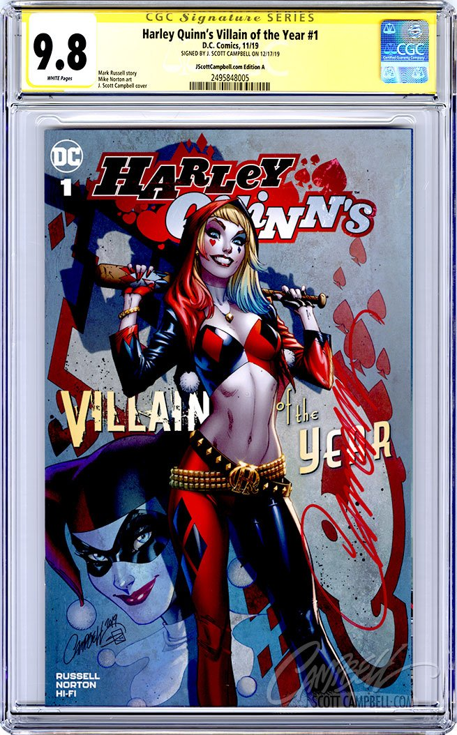 CGC 9.8 SS Harley Quinn's VOTY #1 cover A JSC