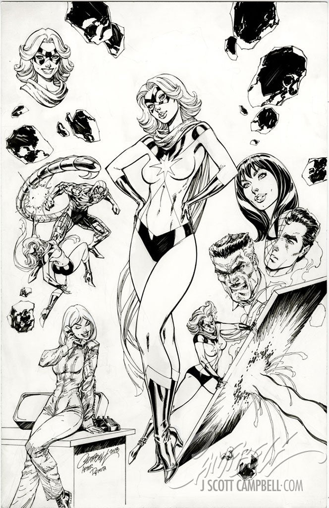 Original Art: Captain Marvel #1 Cover C - SOLD
