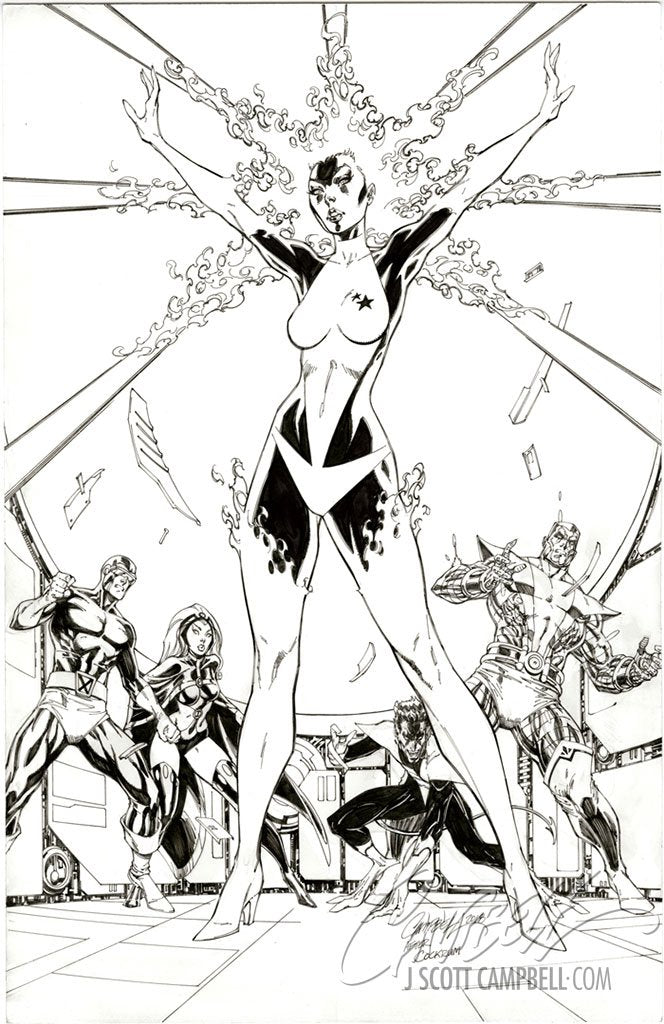 Original Art: Captain Marvel #1 Cover D