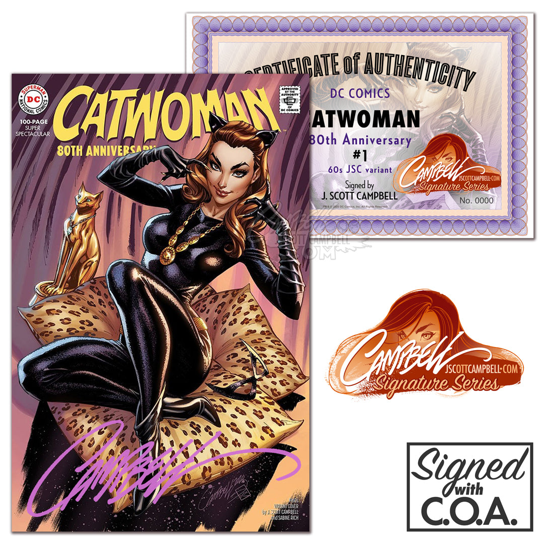 Catwoman 80th Anniversary 1960s J. Scott Campbell