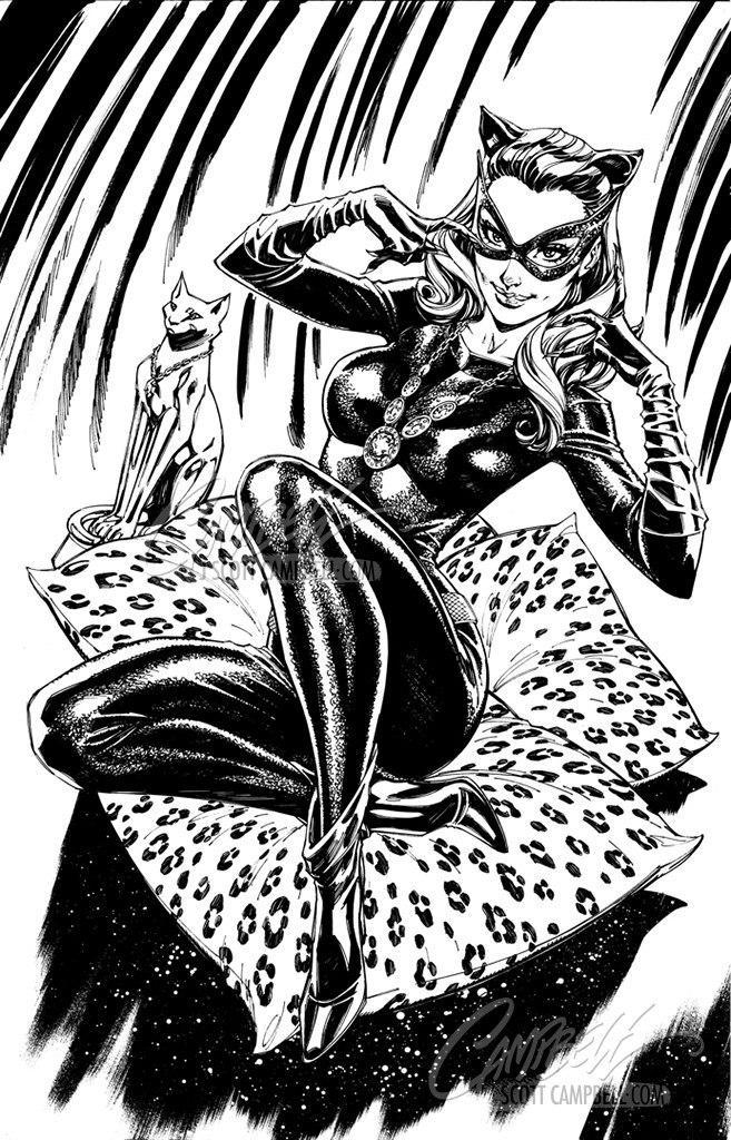 Original Art: Catwoman 80th Anniversary 1960s retail variant - SOLD