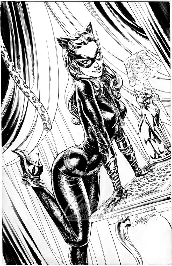 Original Art: Catwoman 80th Anniversary JSC EXCLUSIVE variant C - SOLD