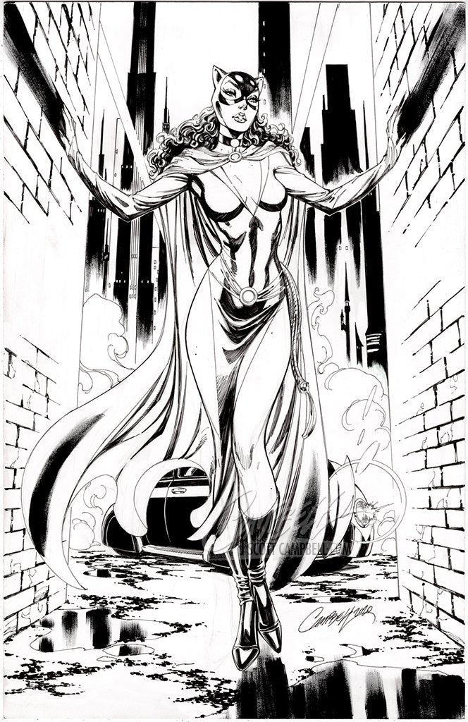 Original Art: Catwoman 80th Anniversary JSC EXCLUSIVE variant G - SOLD