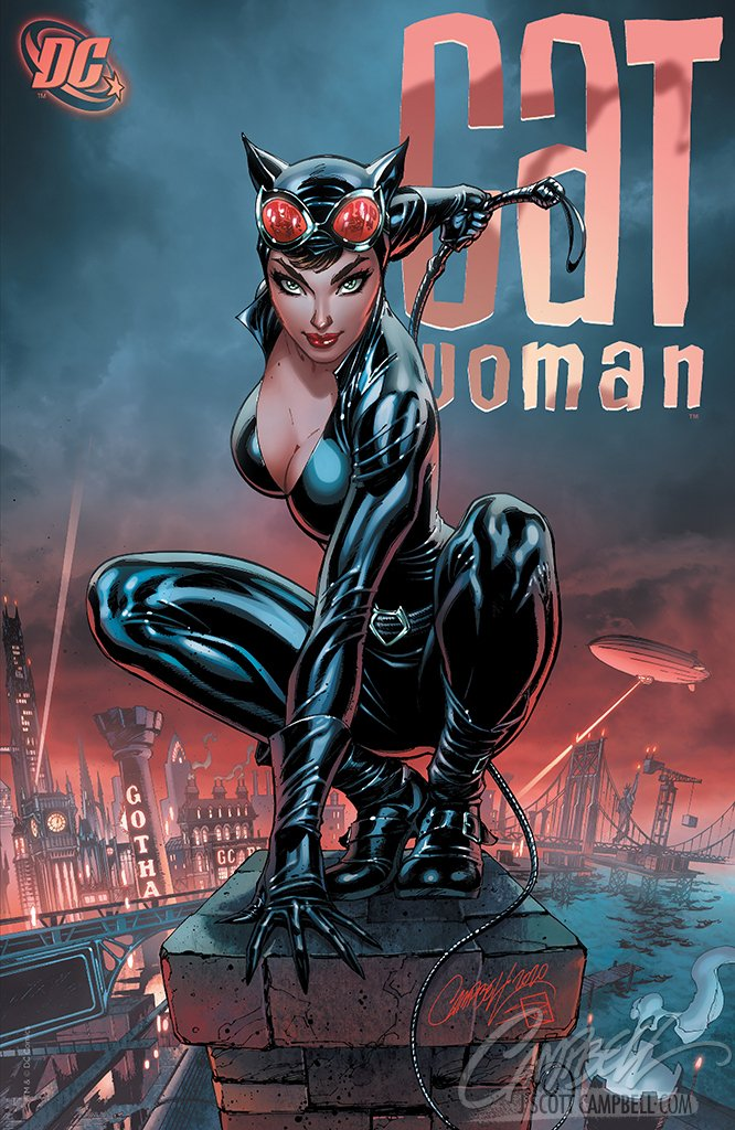 Original Art: Catwoman 80th Anniversary JSC EXCLUSIVE variant E - SOLD