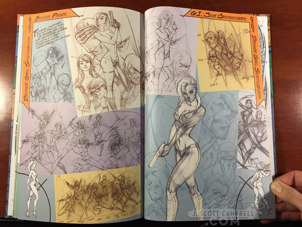 J. Scott Campbell Danger Girl Sketchbook: Expanded Edition Hardcover 2017