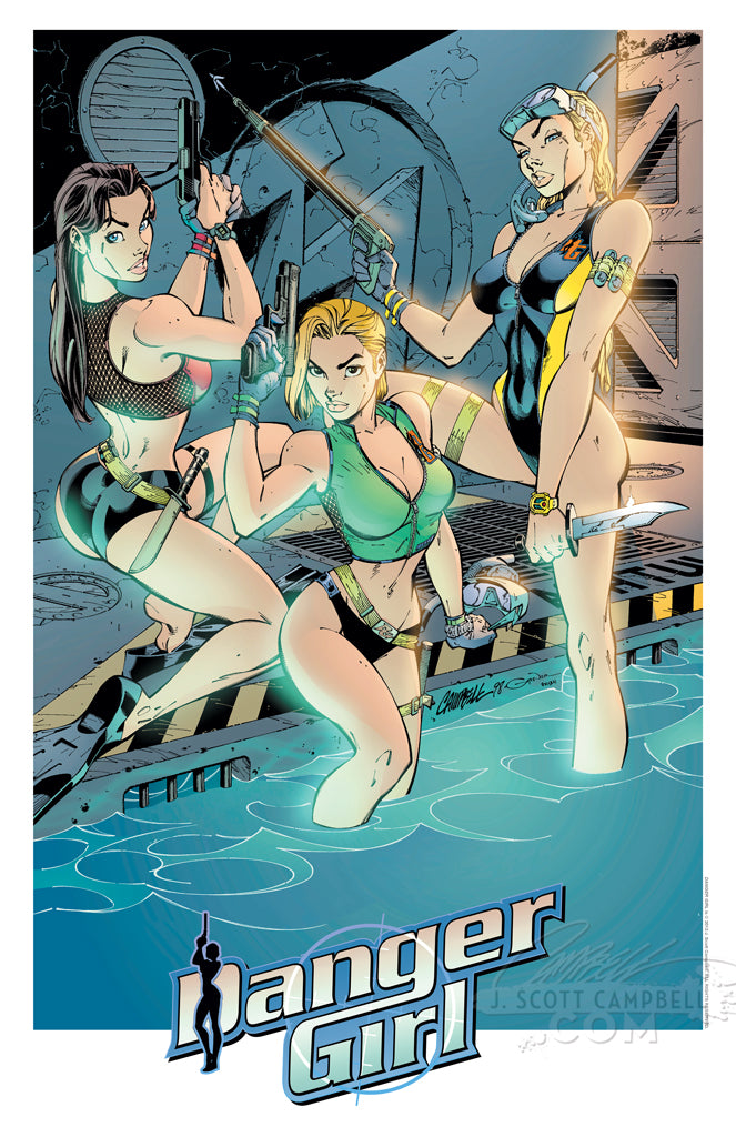 "Danger Girl ""Scuba Girls"" 1998 Print"