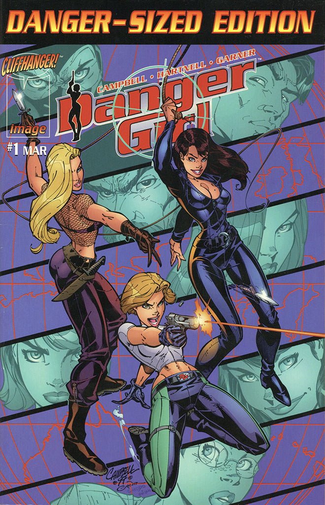 Danger Girl #1 Danger-Sized Edition 1998