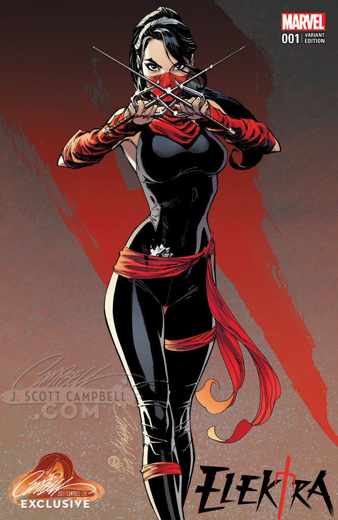 Elektra #1 J. Scott Campbell Store EXCLUSIVE Cover