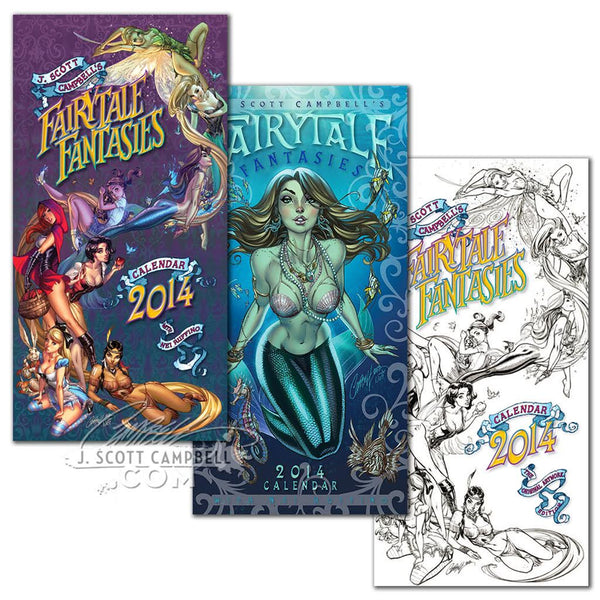 JSC's FairyTale Fantasies Calendar 2014 SET of 3