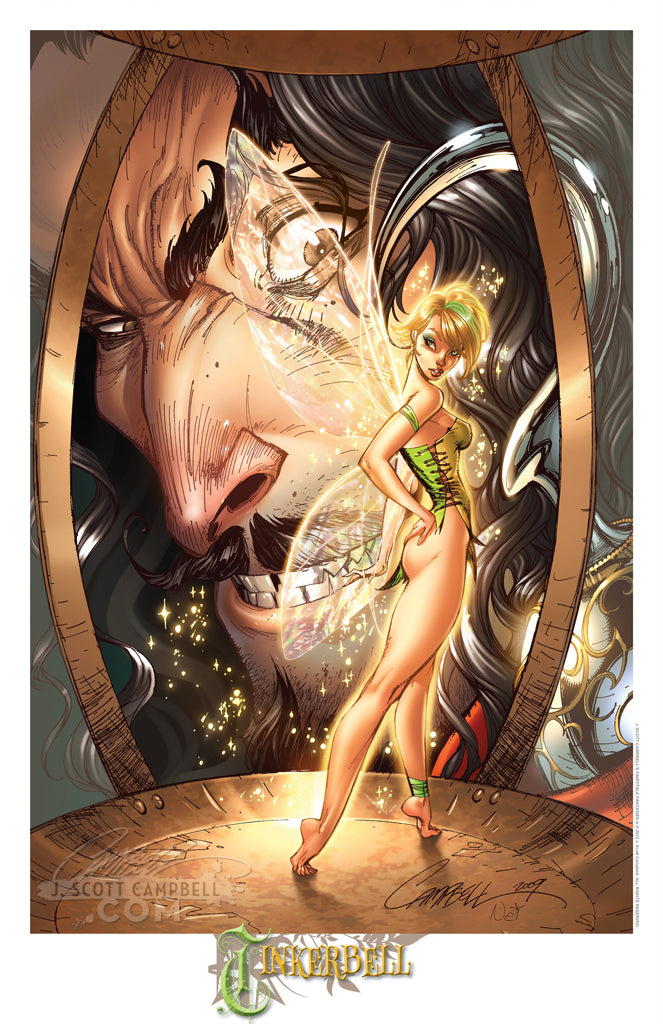 FTF Tinkerbell & Hook 2010 Print