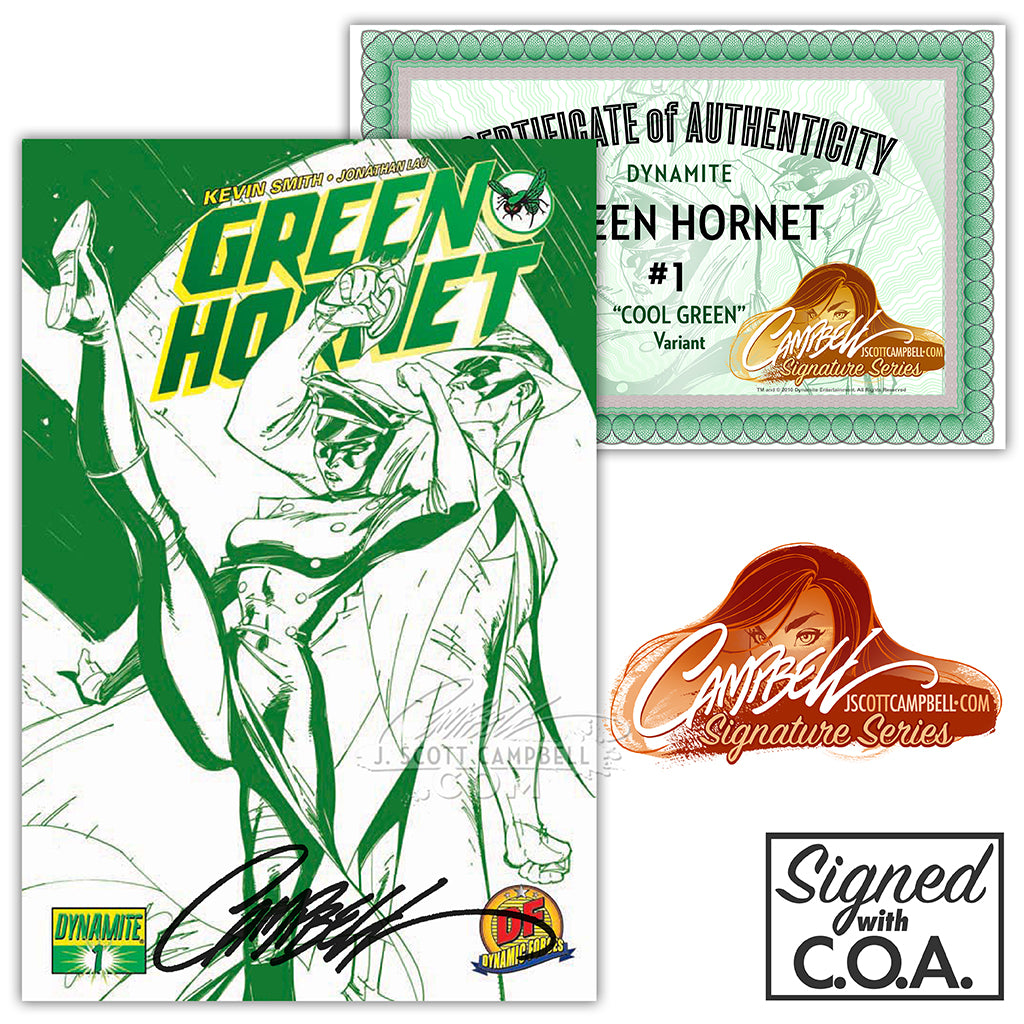 Green Hornet #1 EXCLUSIVES (2010) J. Scott Campbell