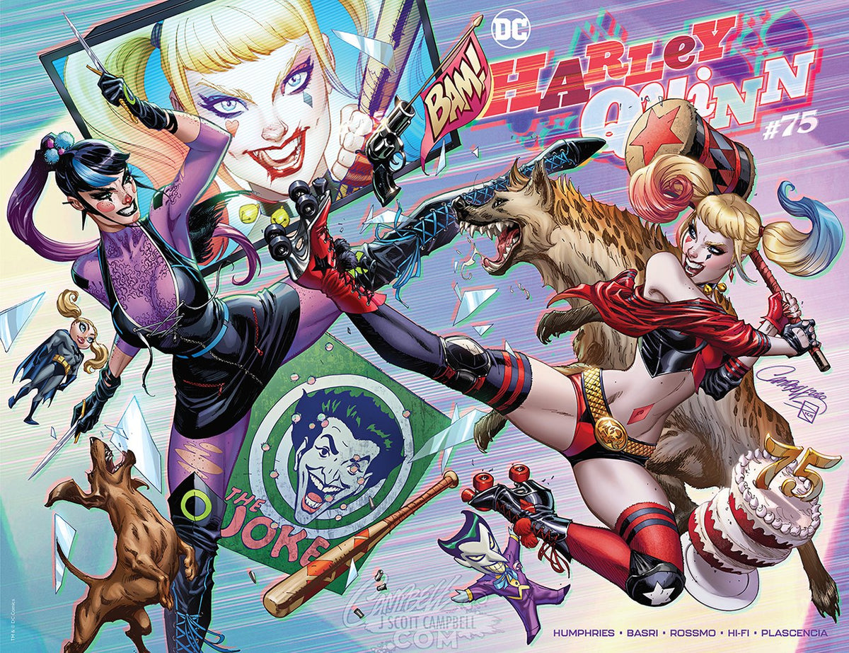 Original Art: Harley Quinn #75 JSC EXCLUSIVE variants B and C