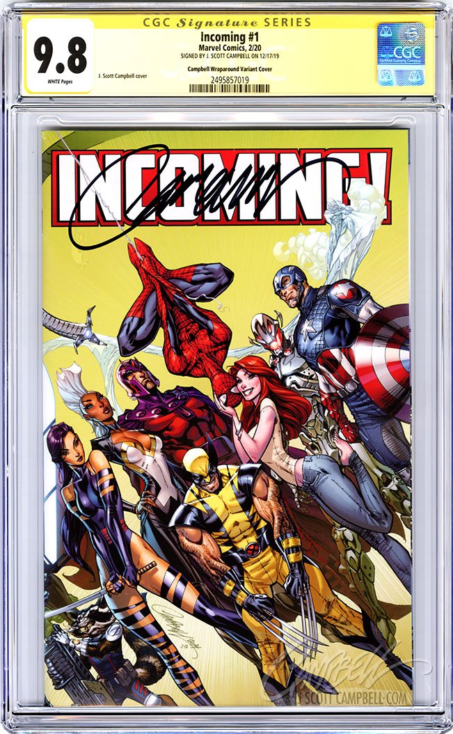 CGC 9.8 SS Incoming #1 1:100 INCENTIVE JSC