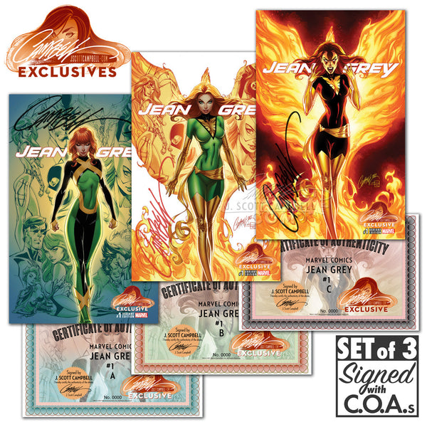 Jean Grey #1 J. Scott Campbell Store EXCLUSIVE Cover