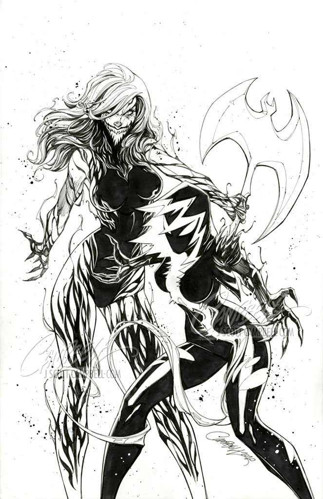 Original Art: King in Black: Gwenom vs Carnage #2 JSC EXCLUSIVE cover A