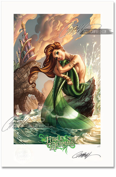 FTF Little Mermaid 2012 Limited Edition Print 13x19